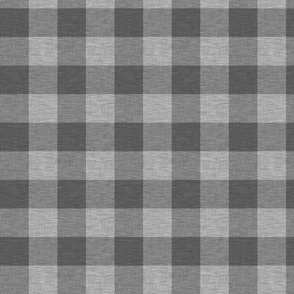 "1.75"" Textured Buffalo Plaid - Dark Grey"
