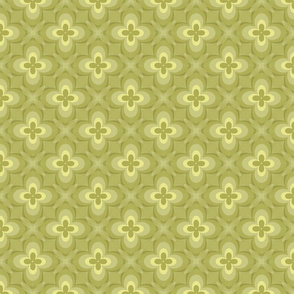 Antiqued Yellow Motif