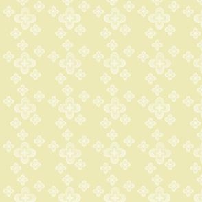 White Motif on Pale Yellow