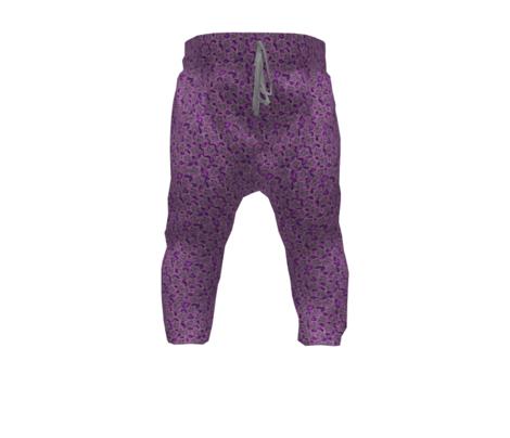 Block print stars in purple, small