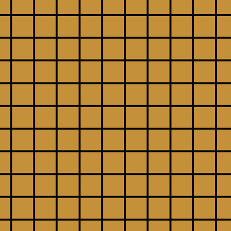 Square Grid - Mustard Black fabric by kimsa on Spoonflower - custom fabric
