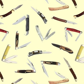 Pocket Knives on Yellow // Small