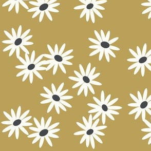 daisies - mustard daisies, baby girl floral
