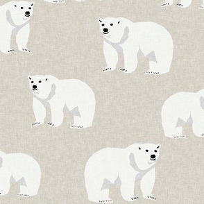 polar bear arctic animal kids nature bears fabric tan