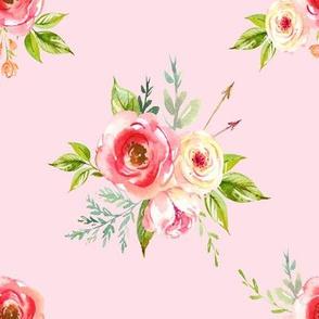 """8"""" Natural Rose Florals // Blush"""