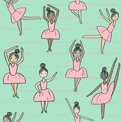 ballet // dancing dancer ballet fabric cute girls music mint