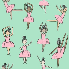 ballet // dancing dancer ballet fabric cute girls music mint
