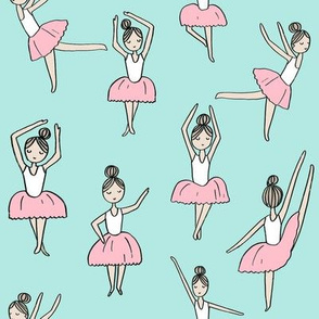 ballet // dancing dancer ballet fabric cute girls music medium  blue