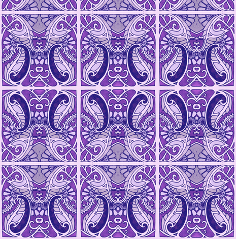 Purple Paisley Plant fabric by edsel2084 on Spoonflower - custom fabric
