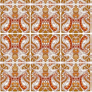 Orange and Caramel Paisley Plant