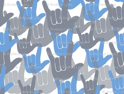 ASL I love you Blue