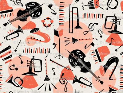 Jazz Band - Salmon & Beige