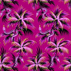 Snake Palms - Purple - AndreaAlice