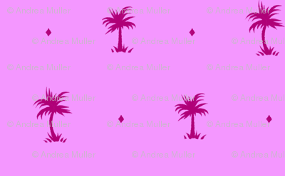 Tiny Palms - Pink / Purple - AndreaAlice