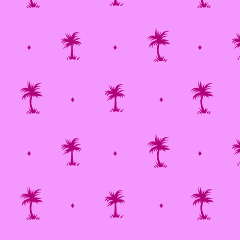 Tiny Palms - Pink / Purple - AndreaAlice fabric by andreaalice on Spoonflower - custom fabric