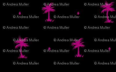 Tiny Palms - Black / Purple - AndreaAlice