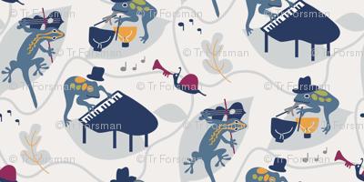 Frog Concert-blues