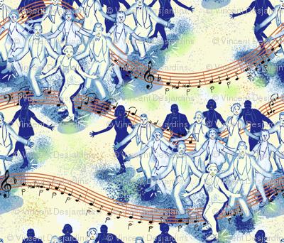 Tap Dance Finale Blue