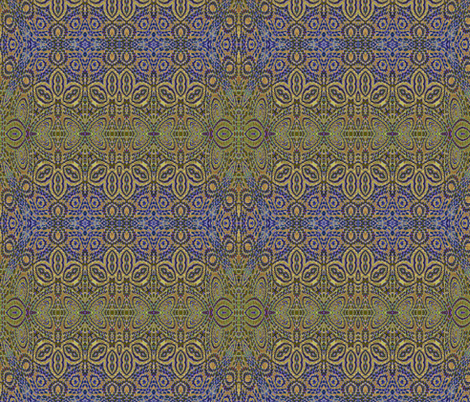 ornate blue gold tapestry fabric by wren_leyland on Spoonflower - custom fabric