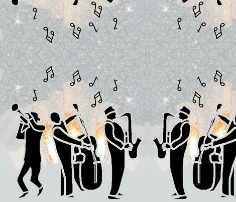 Jazz Band Center Stage fabric by twix on Spoonflower - custom fabric