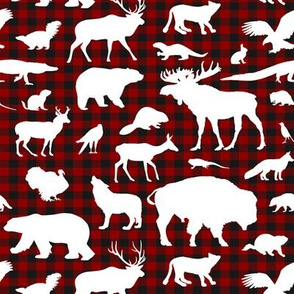 Buffalo Plaid Animal Silhouetttes