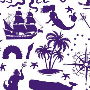 High Seas Adventure in Purple // Large