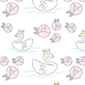 Swan Lake - white background