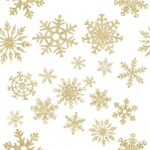 Rotated // Snowflakes in Gold Glitter