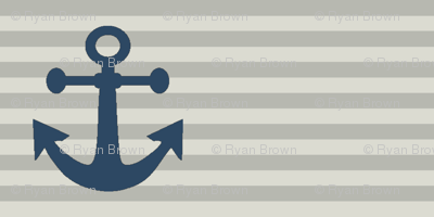 "1"" Navy Anchors"