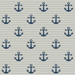 "1"" Navy Anchors"