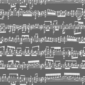 Sheet Music on Dark Grey // Small