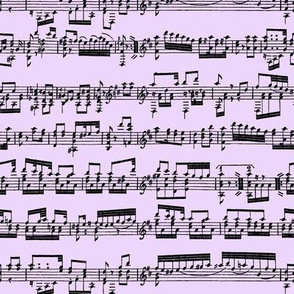 Sheet Music on Lavender // Small