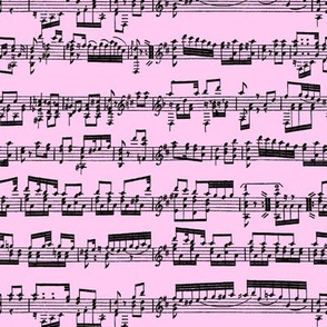 Sheet Music on Light Pink // Small