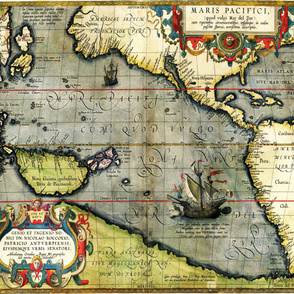 """1589 Map of the Pacific (42""""W)"""