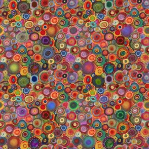 Colorful Painted Rainbow Circles
