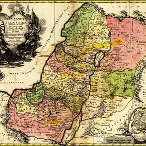 "1759 Map of Palestine (42""W)"