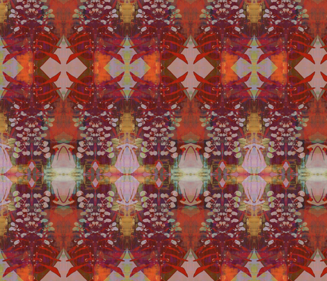 Perception Lobelia Blush fabric by antonialindseyart on Spoonflower - custom fabric