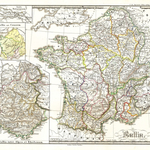 """Map of Ancient Gaul (42""""W)"""