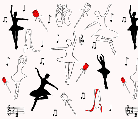 Dancers In the Spotlight fabric by sharongayhart on Spoonflower - custom fabric