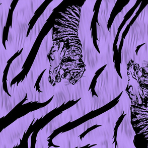 Tribal Tiger stripes print - vertical psychic purple large