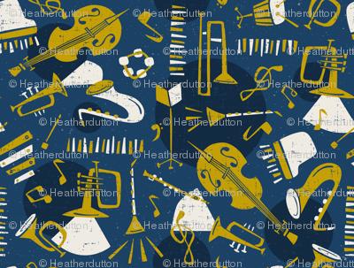 Jazz Band - Blue & Gold