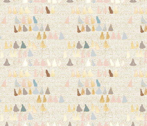 EARTHEN TASSEL MULTI fabric by holli_zollinger on Spoonflower - custom fabric