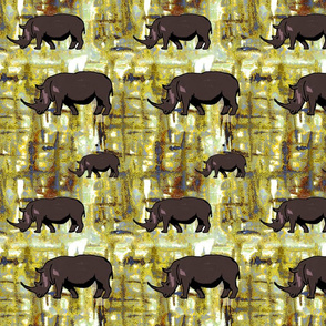Rhinos in Africa