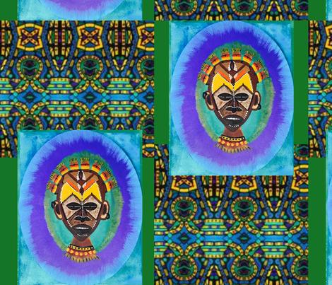 Mighty Warrior fabric by sj_hallart on Spoonflower - custom fabric