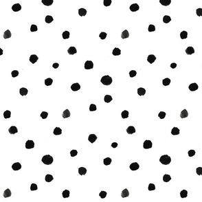 Watercolor polka dots