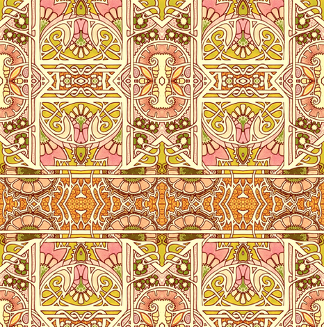Moorish Summer Afternoon fabric by edsel2084 on Spoonflower - custom fabric