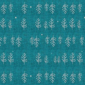 Arctic Night Forest (SMALL) (teal)