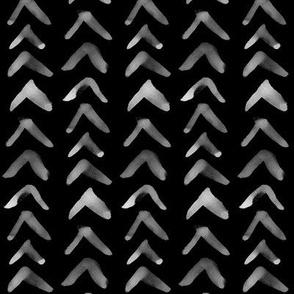 Watercolor Arrows on Black // Vertical