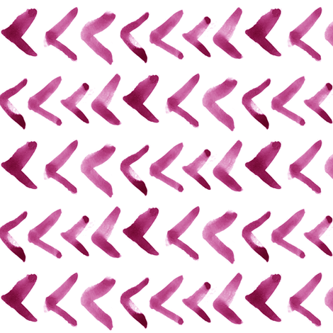 Pink Watercolor Arrows fabric by thinlinetextiles on Spoonflower - custom fabric