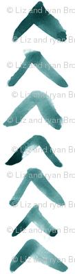 Paint Arrows // Aqua // Vertical